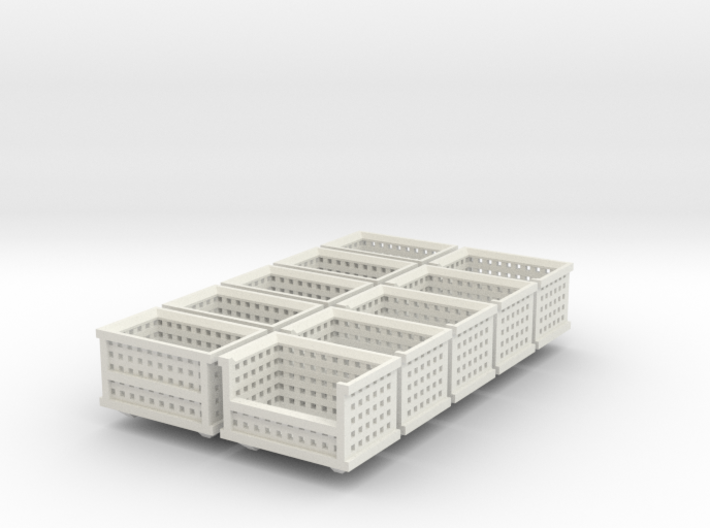Shipping Crate Stackable 10 Pack 1-87 HO Scale 3d printed