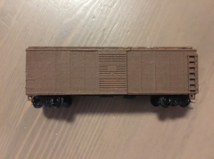 N Scale PRR X29B Boxcar Coarse Details w/ cage 3d printed
