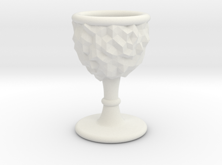 DRAW goblet - inverted geode with stem 3d printed