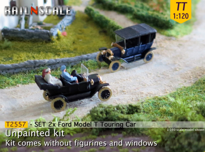 SET 2x Ford Model T (TT 1:120) 3d printed