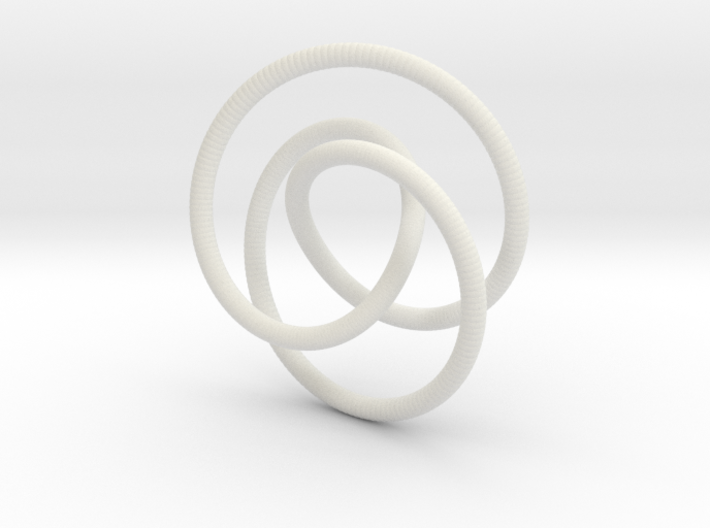 Smooth 2bridge Trefoil Torus Knot 3d printed