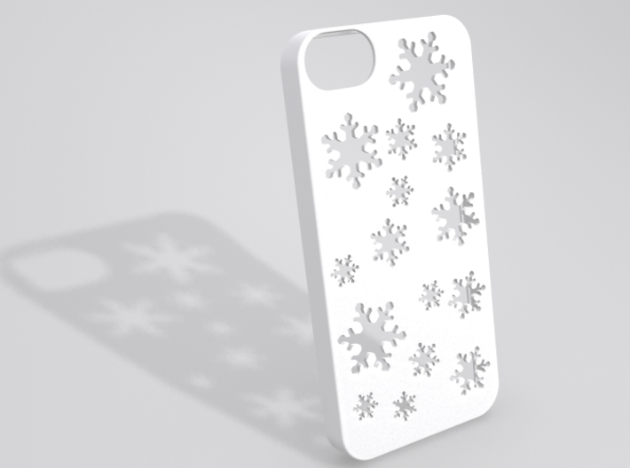 Snowflake iPhone 5 case 3d printed Sample render