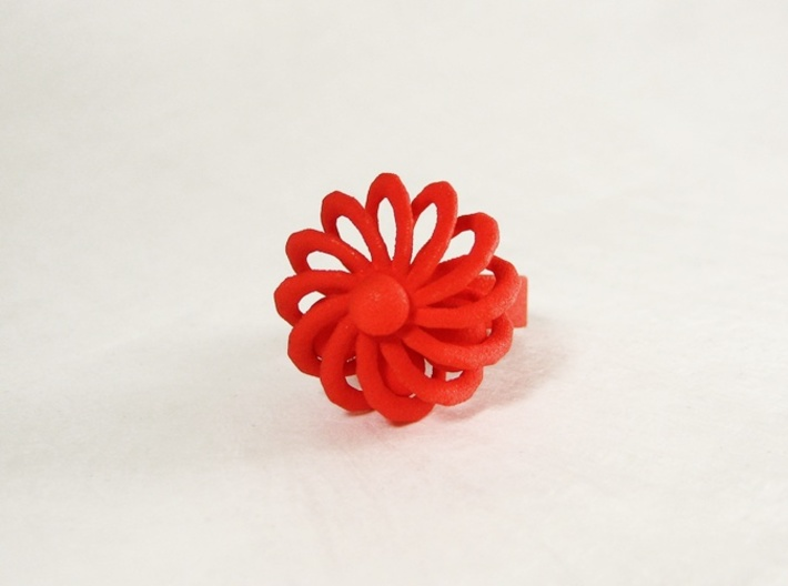 Fidget Ring - Turbine spinner ring 3d printed