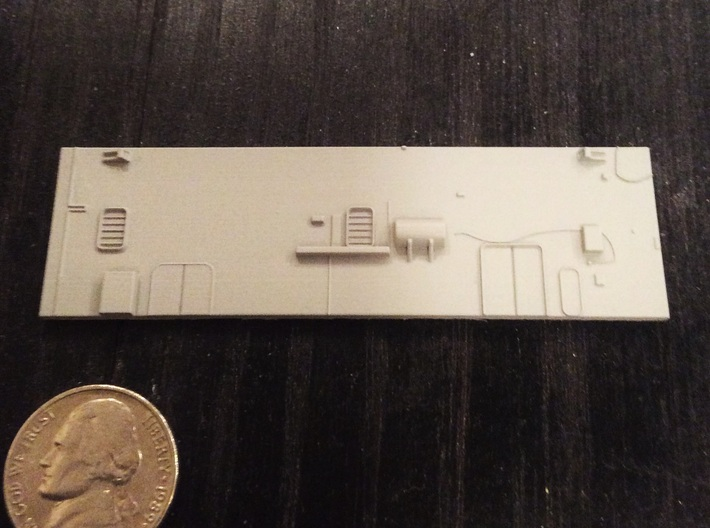 1:350 Scale Nimitz Class Hangar Back Wall Early Ty 3d printed FUD Part primered with Tamiya Primer