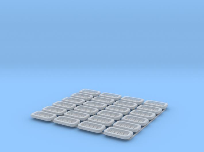 25 Man Rectangular Raft x 24 1/144 3d printed