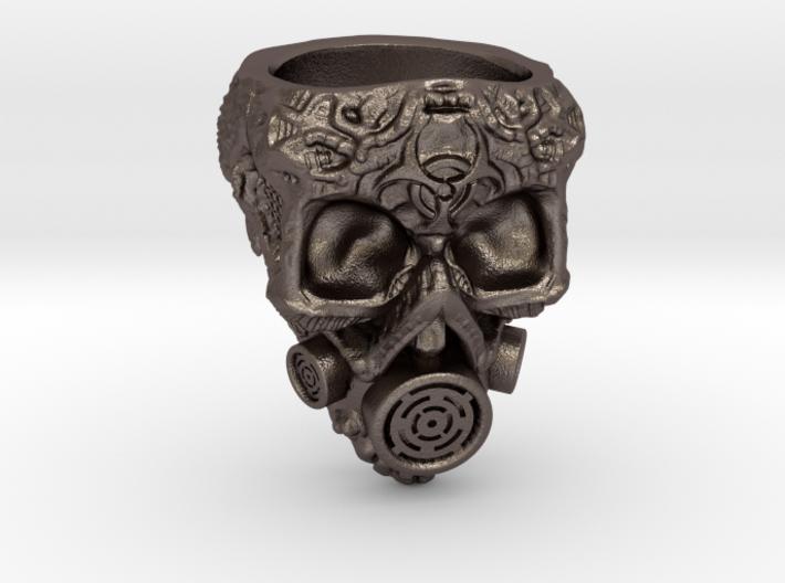 Plague Skull Ring (size 10) 3d printed
