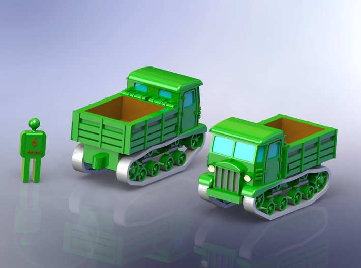 Russian STZ-5 Full Tracked Tractor 1/285 6mm 3d printed