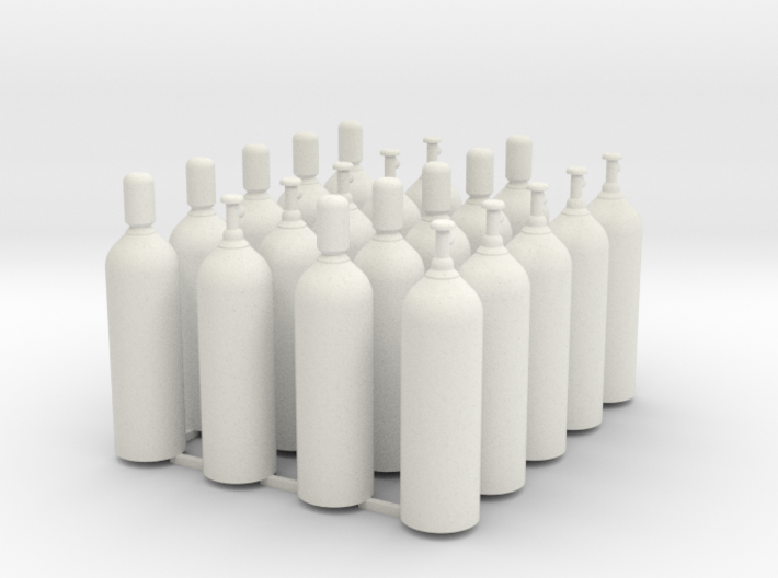 Welding & Gas High Pressure Cylinders 1-45 Scale 3d printed