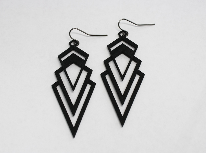 Art Deco Earrings - Valorous 3d printed