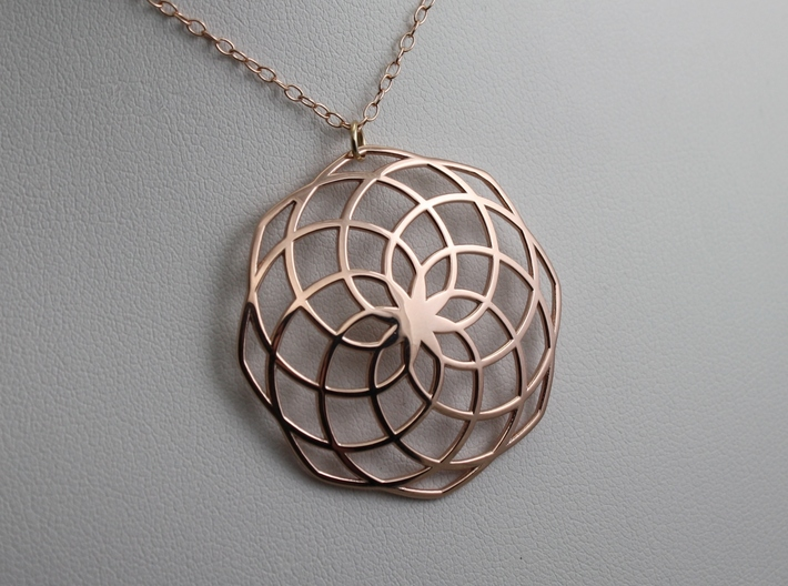 Classic Spiral Pendant 3d printed