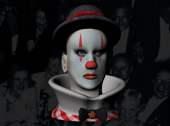 Weimar Clown 1929 - Color 3d printed Weimar Clown Full Color