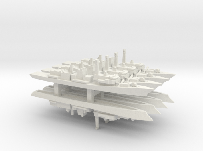 Type 23 frigate x 8, 1/2400 3d printed