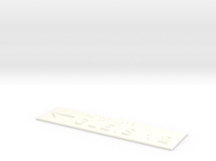 GLEIS 12 mit Pfeil nach links 3d printed