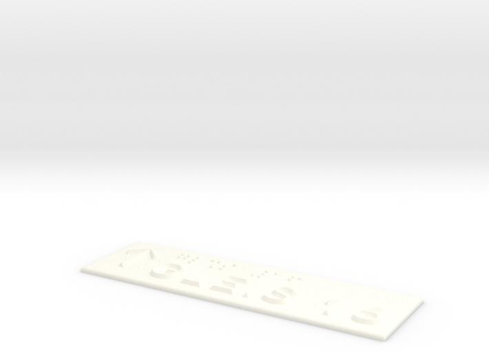GLEIS 16 mit Pfeil nach oben 3d printed