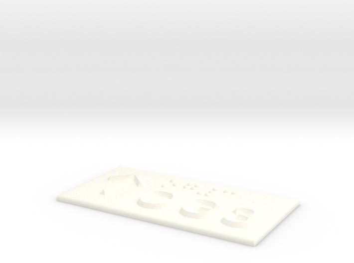 OG 3 mit Pfeil nach oben 3d printed