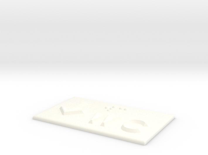 WC mit Pfeil nach unten 3d printed