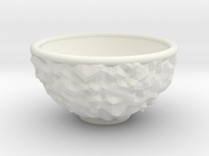 DRAW bowl - ceramic inverted geode 3d printed