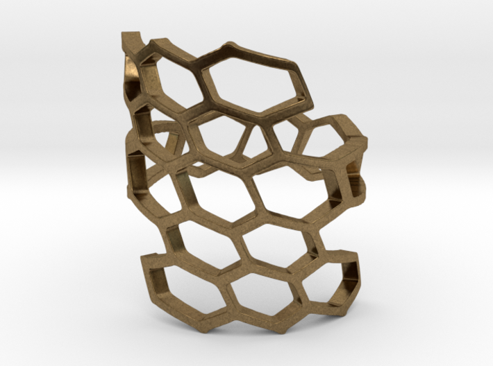 HoneyComb Ring4 3d printed