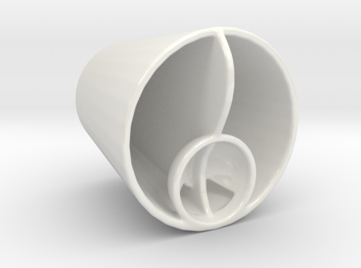 Two Liquids Dual Drinking Cup 3d printed