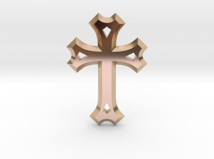 Syriac Cross 3d printed
