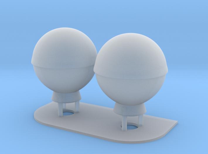 1:96 scale SatCom Dome Set 3 3d printed