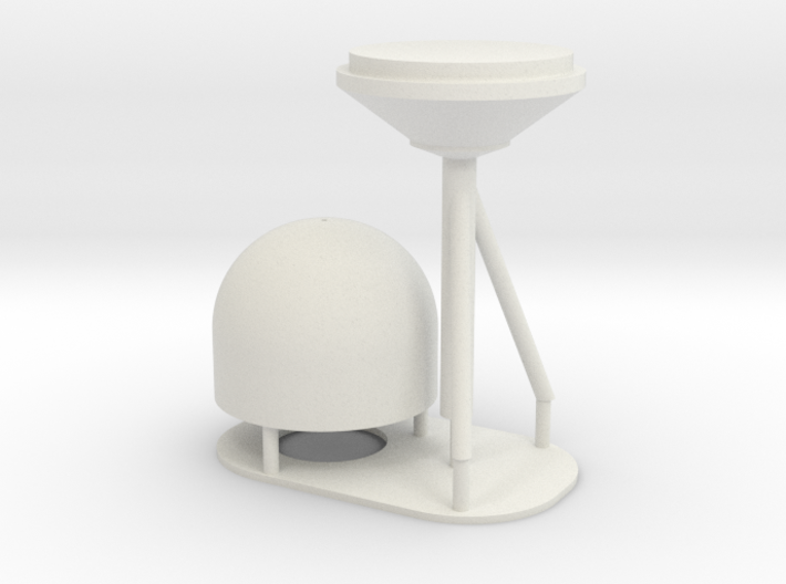 1:96 scale SatCom Dome - with stand 3d printed