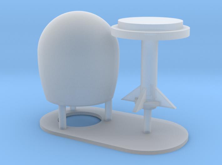 1:96 scale SatCom Dome Set 5 3d printed
