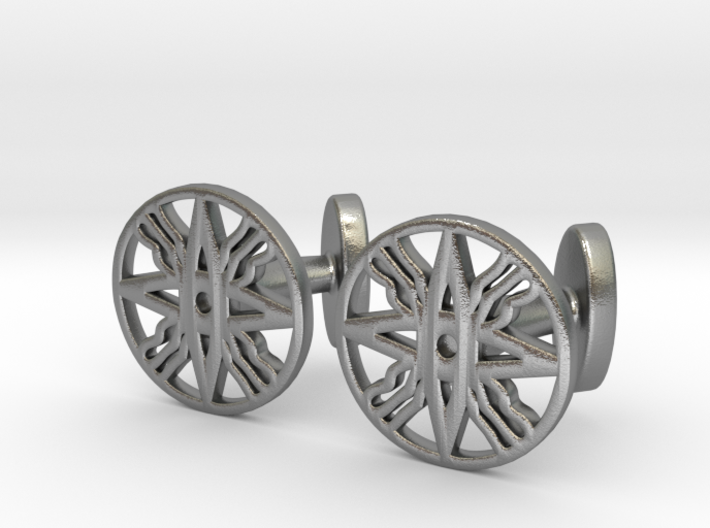 Assyrian Flag Cufflinks 3d printed