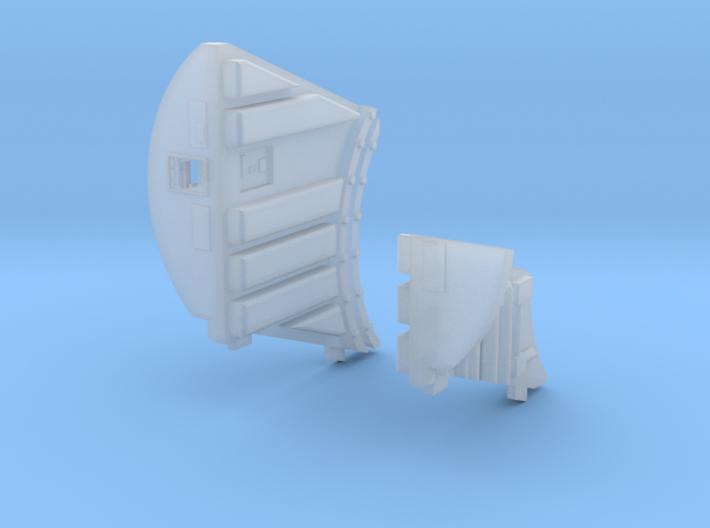Cockpit Corridor Walls for DeAgo Falcon 3d printed