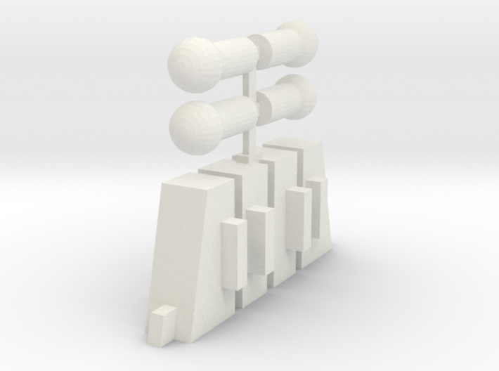 Handle Adapters And Ball Pegs (Double) 3d printed