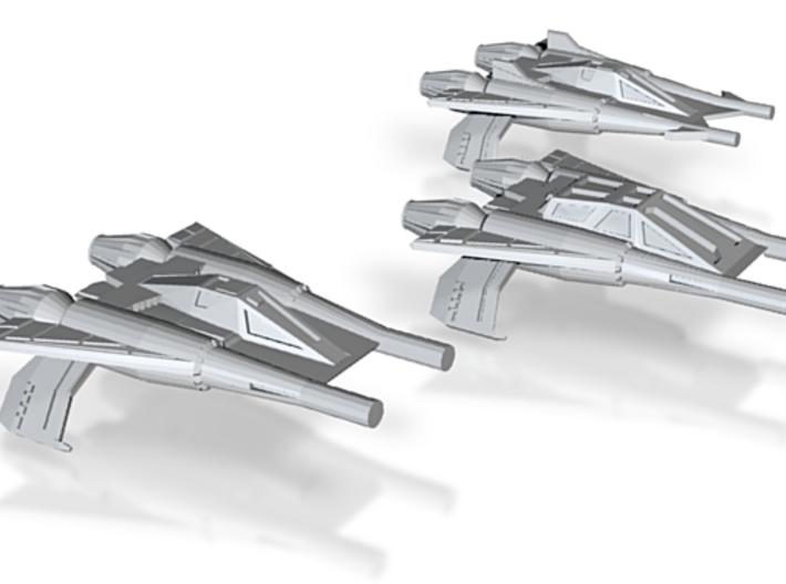 Thunder Fighter Variants 1/270 (Buck Rogers) 3d printed