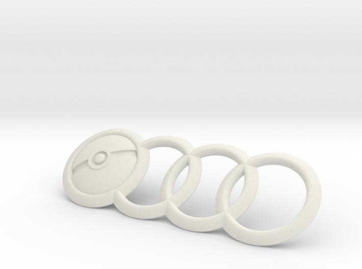 Audi Emblem Pokemon PokeBall 7.5 Inch 3d printed