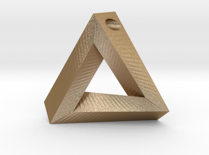 Penrose Triangle - Pendant (3.5cm | 3mm hole) 3d printed