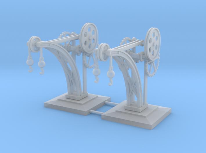 Dock Crane Z Scale 3d printed 2 dock cranes z scale