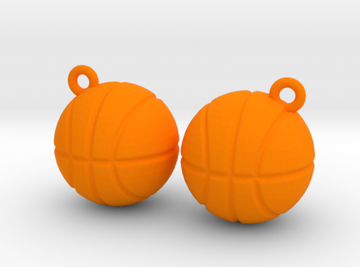 Basketball Solid Earrings 3d printed