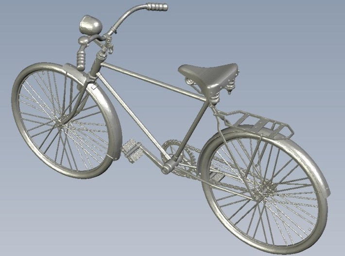 1/24 scale WWII Wehrmacht M30 bicycle model x 1 3d printed