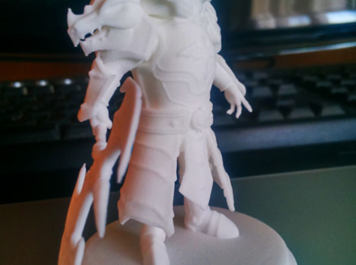 Laika Fire Knight 3,5 inches Tall 3d printed