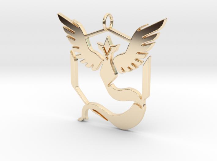Pokemon GO: Team Mystic Pendant 3d printed