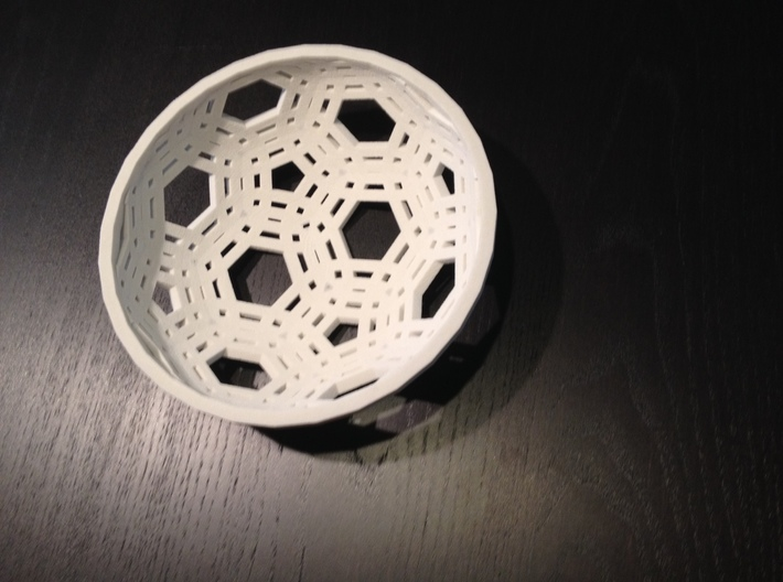 Lace Bowl With Rim 3d printed