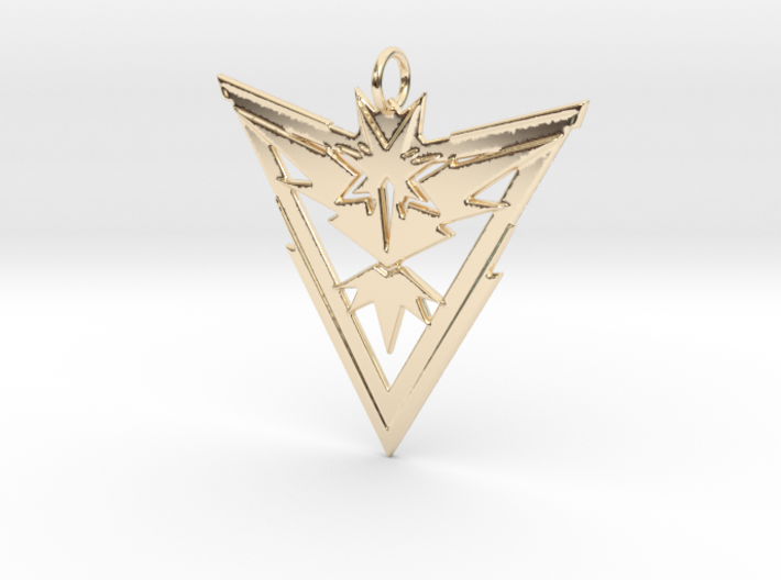Team Instinct Pendant - Pokemon Go - Zapdos 3d printed