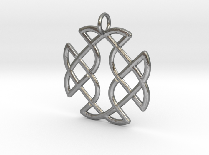 Celtic Square Cross Pendant 3d printed