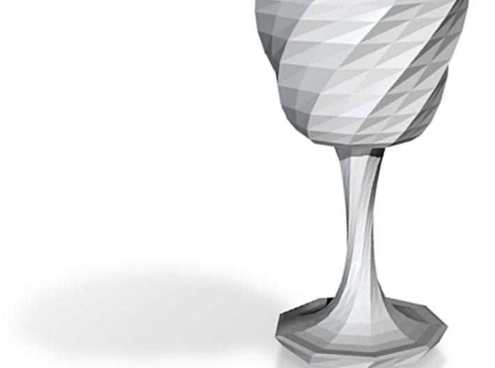 goblet long stem 4 3d printed