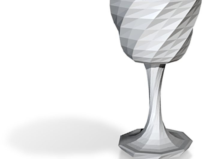 goblet long stem 5 3d printed