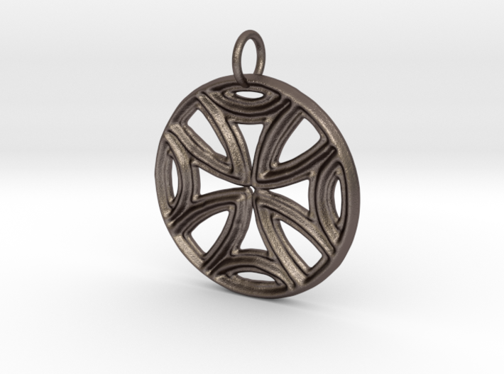 Ancient Cross Pendant 3d printed