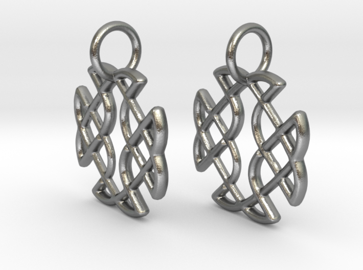 Celtic Square Cross earrings 3d printed