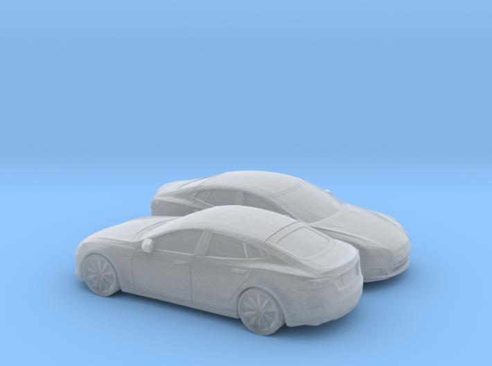 1/160 2X 2012-16 Tesla Model S 3d printed