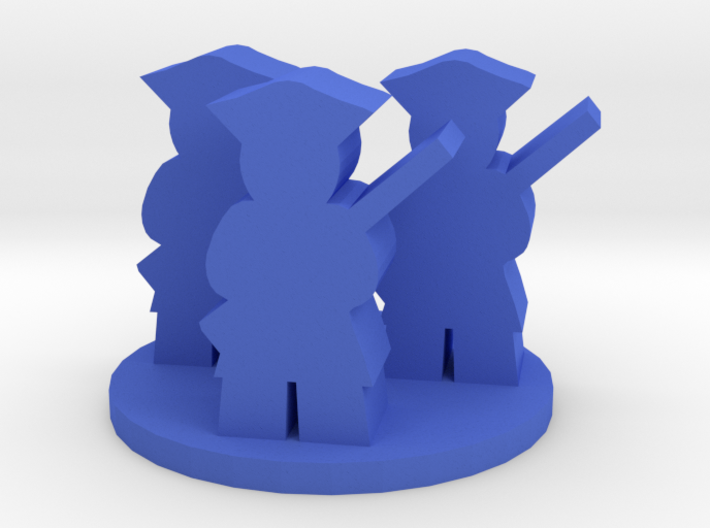 Game Piece, Colonial American Unit 3d printed