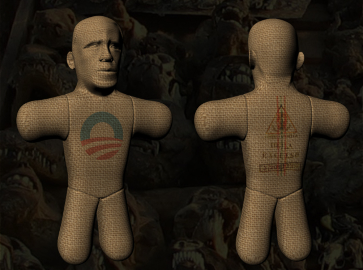 Obama Voodoo Doll 3d printed Obama Voodoo Doll