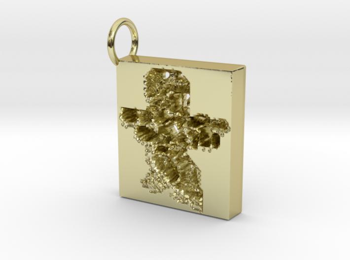 18k gold soldier keyring 3d printed