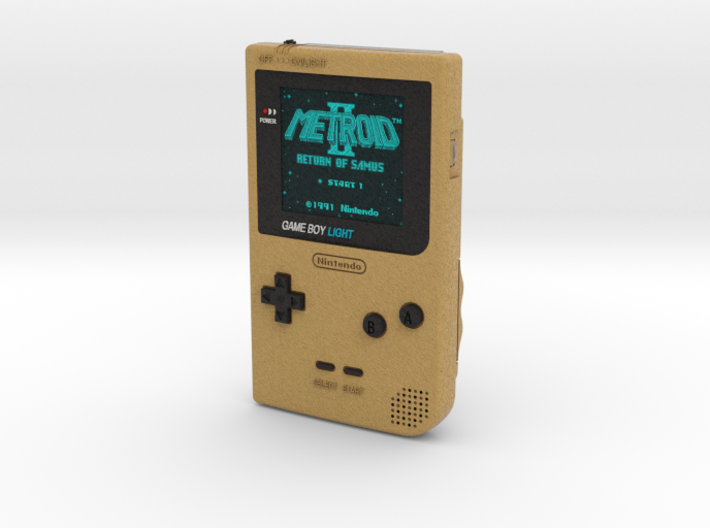 1:6 Nintendo Gameboy Light (Gold Metroid 2) 3d printed